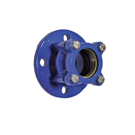 Adapter for PE, PVC pipe flange cast iron, DN 50/63 / PN16