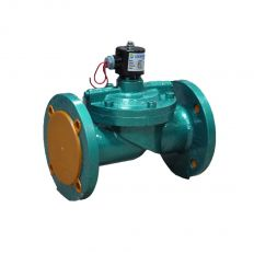 Solenoid valve normally closed indirect flange cast iron, DN 50 / NBR / PN10