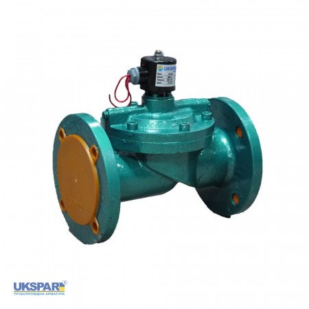 Solenoid valve normally closed indirect flange cast iron, DN150 / NBR / PN10