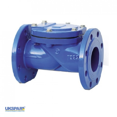 Check valve rotary flange cast iron, DN 125 / plate-steel + NBR / NBR / PN16