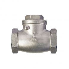 Check valve rotary coupling stainless steel, DN 15 / plate-SS steel 304 / PN16