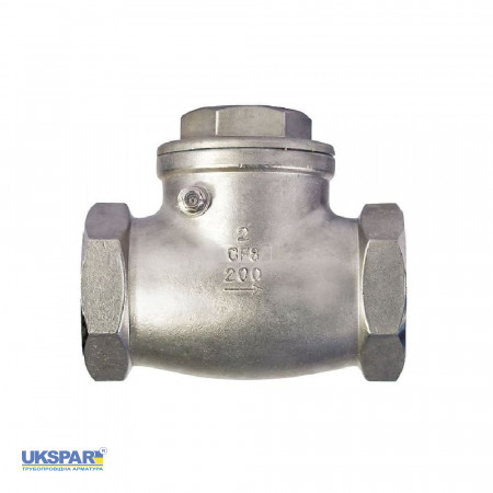 Check valve rotary coupling stainless steel, DN 40 / plate-SS steel 316 / PN16