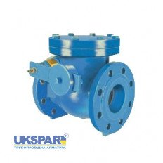 Rotary check valve with counterweight flange cast iron, DN 350 / disc-cast iron GGG50 / PN16