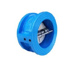 Check valve double-leaf cast iron, DN 80 / leaf-SS steel 304 / VITON / PN16