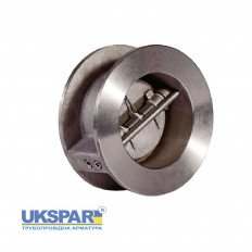 Check valve double-leaf stainless steel, DN 50 / leaf-SS steel 316 / VITON / PN25