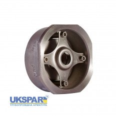 Check valve spring-loaded stainless steel inter-flange, DN 15 / plate-SS steel 316 / PN40