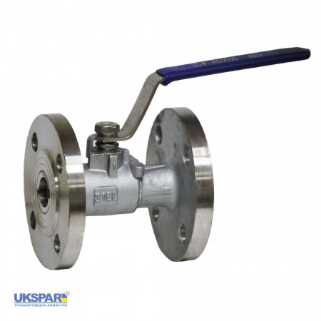 Ball valve full-cast stainless flange, DN 25 / ball-NJ steel 316 / PTFE / PN16