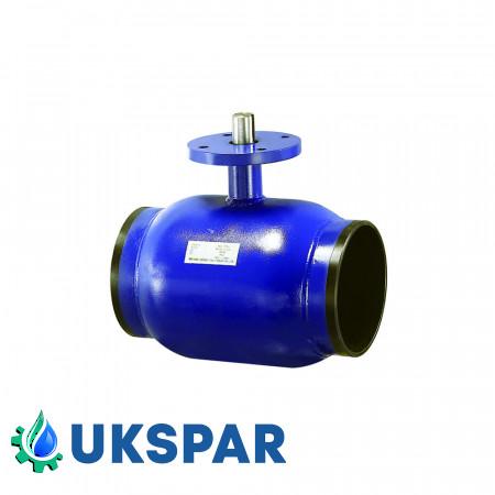 Кран шаровой неполнопроходной  приварной стальной, Ду 15 / шар-нж сталь 304 / PTFE / PN40