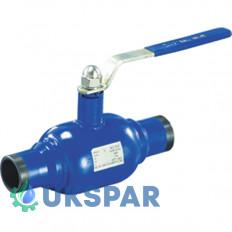 Кран шаровой полнопроходной  приварной стальной, Ду 40 / шар-нж сталь 304 / PTFE / PN16