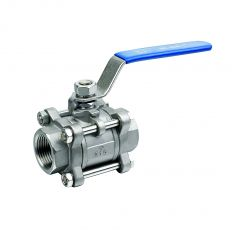 Ball valve three-component coupling / DN 15 / ball-NJ steel 304 / PTFE / PN40