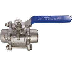 Ball valve three-component welded stainless, DN 15 / ball-NJ steel 304 / PTFE / PN40