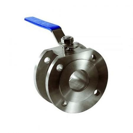 Ball valve flange stainless, DN150 / ball-NJ steel 304 / PTFE / PN16