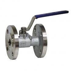 Ball valve full-cast stainless flange, DN 15 / ball-NJ steel 316 / PTFE / PN16