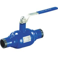 Ball valve full-bore welded steel, DN 40 / ball-NJ steel 304 / PTFE / PN16
