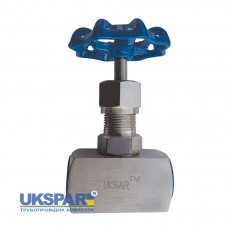 Needle valve coupling stainless, DN 15 / stem-SS steel 316 / PTFE / PN140