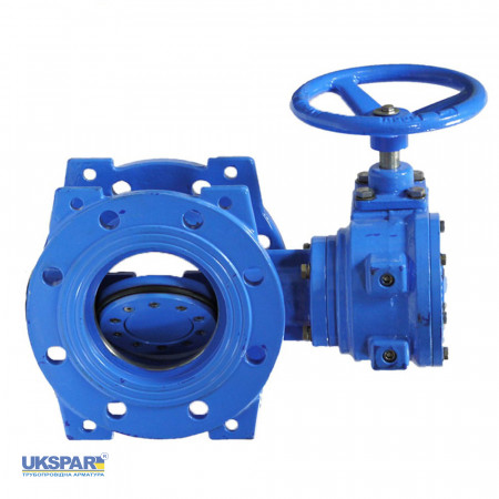 Butterfly valve with eccentric disc cast iron, DN 600 / disc-cast iron GGG50 / EPDM / PN40