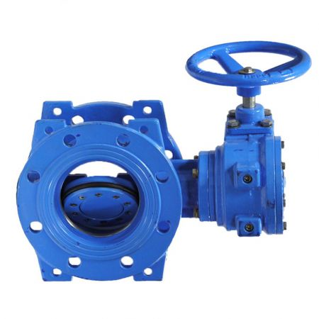 Butterfly valve with eccentric disc cast iron, DN 150 / disc-cast iron GGG50 / EPDM / PN10