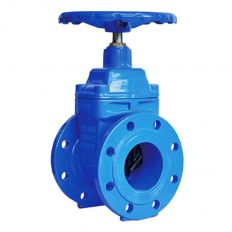 Valve with rubber wedge flange cast iron, DN 80 / wedge-iron GGG50 + EPDM / PN16