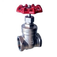 Wedge gate valve, socket weld, stainless steel, DN 15 / wedge-SS steel 304 / PN16
