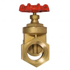 Wedge gate valve coupling brass, DN 15 / wedge-brass / PTFE / PN16