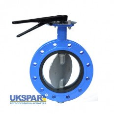 Rotary disc butterfly valve cast iron, DN 50 / disc-SS steel 316 / VITON / PN16
