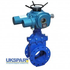 Wedge  gate valve with electric lead cast iron DN 100 / wedge-iron GGG50 + EPDM / PN16
